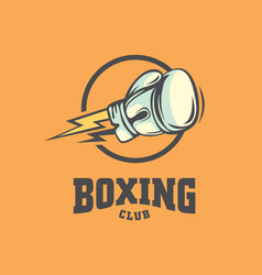 boxing club logo design sport symbol vector image
