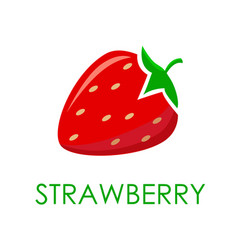 bright colored strawberries vector image