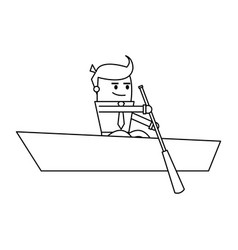 Cartoon businessman icon image vector