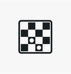 Checkers icon simple game element board symbol vector