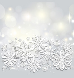 christmas and new years background with snowflakes vector image