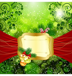 Christmas bright background with place for text vector image