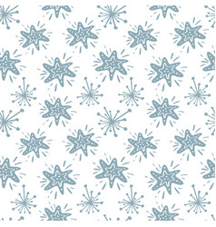 christmas star seamless pattern in vector image