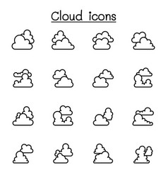 cloud icons set graphic design vector image