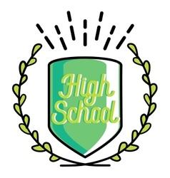 Color vintage back to school emblem vector image