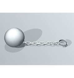 Convict ball and chain vector