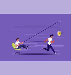 Creative concept boss use worker as slavery vector