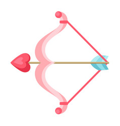 cupid bow and arrow with heart vector image