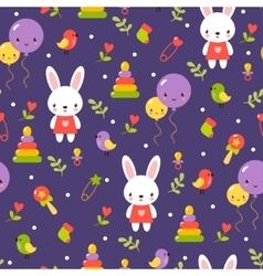 Cute baby pattern design vector