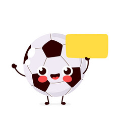 cute funny smiling happy football vector image