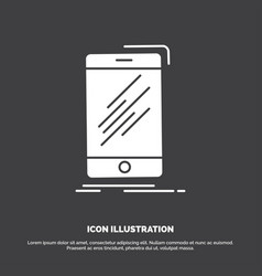 device mobile phone smartphone telephone icon vector image