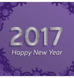 digital happy new year 2017 text design vector image
