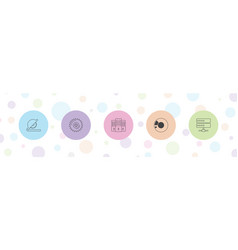 Disk icons vector