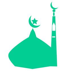 Dome mosque icon vector