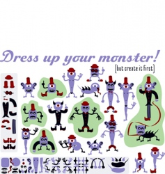Dressupmonster vector