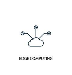 Edge computing concept line icon simple element vector