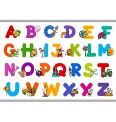 educational cartoon alphabet for kids vector image