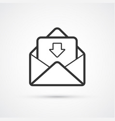 email flat line trendy black icon eps10 vector image