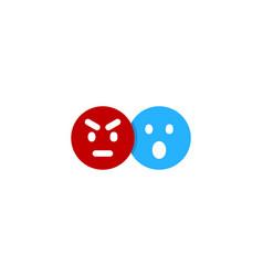 emoticon social network logo icon design vector image