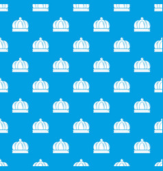 Empire crown pattern seamless blue vector