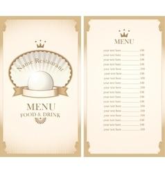 enu for a cafe or restaurant vector image vector image