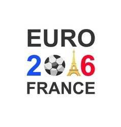 Euro 2016 France football championship vector image