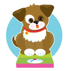 Fat dog scale vector