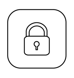 Figure symbol lock icon vector