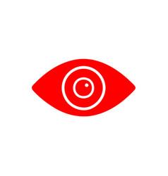 flat line eye icon vector image