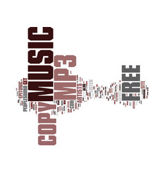 Free copy of mp music text background word cloud vector
