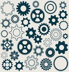 Gear wheels icons vector