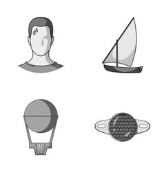 Give business sport and other monochrome icon in vector