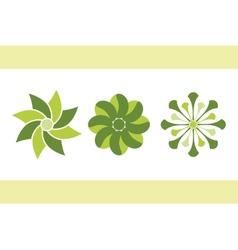 green flowers set 1 eps8 vector image