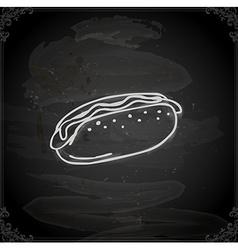 Hand Drawn Hotdog vector