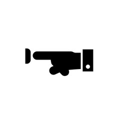 hand pressing button flat icon vector image
