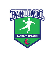 Handball logo with text space for your slogan vector