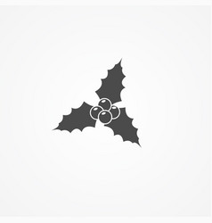 holly berry icon sign symbol vector image