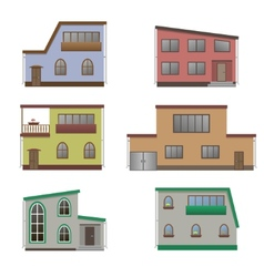 House and building set vector image