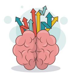 Human brain arrows creativity business growth vector