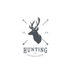 Hunting logo template vector