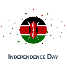 Independence day of kenya patriotic banner vector