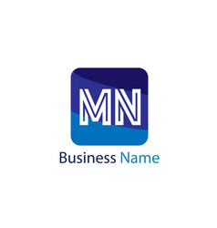 initial letter mn logo template design vector image