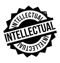 Intellectual rubber stamp vector