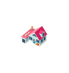 Isometric facade cottage vector