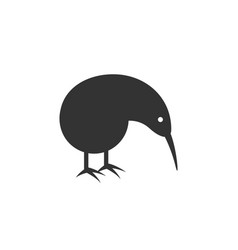 kiwi bird logo silhouette - animal bird nature vector image