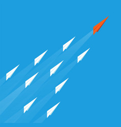 leadership plane concept business goal paper vector image