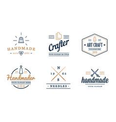Logo design handmade diy craft tailoring vector