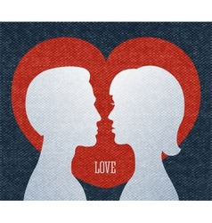 Love couple silhouettes vector