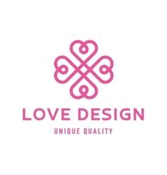 Love heart sign design template logo flat style vector