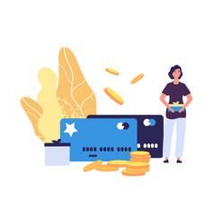 loyalty card program bonus cards reward for buys vector image